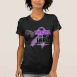 My Mom is My Hero - Purple Ribbon Tshirt
