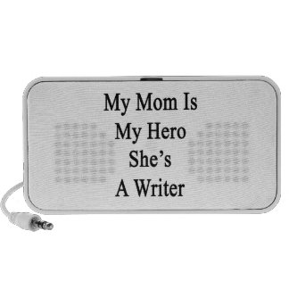 My Mom Is My Hero She's A Writer Laptop Speakers