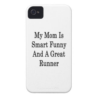 My Mom Is Smart Funny And A Great Runner iPhone 4 Case