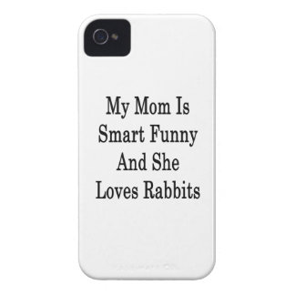 My Mom Is Smart Funny And She Loves Rabbits iPhone 4 Case-Mate Case