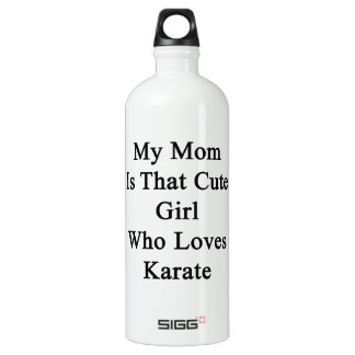My Mom Is That Cute Girl Who Loves Karate SIGG Traveler 1.0L Water Bottle
