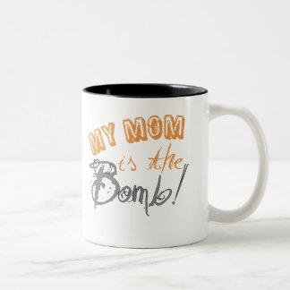 my mom is the bomb Two-Tone coffee mug