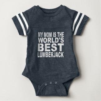 My Mom Is The World's Best Lumberjack Baby Bodysuit