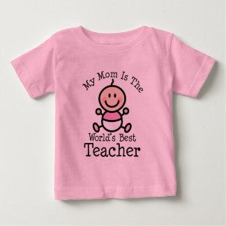 My Mom is the Worlds Best Teacher Baby T-Shirt