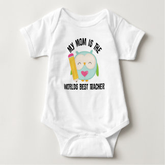 My Mom Is The Worlds Best Teacher childs t-shirt