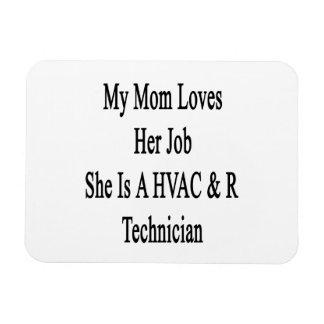 My Mom Loves Her Job She Is A HVAC R Technician Vinyl Magnets