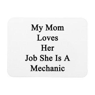 My Mom Loves Her Job She Is A Mechanic Vinyl Magnets