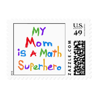 My Mom Math Superhero T-shirts and Gifts Stamps
