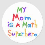 My Mom Math Superhero T-shirts and Gifts Stickers