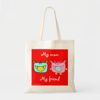 My Mom My Friend Monster Tofu Tote Bag
