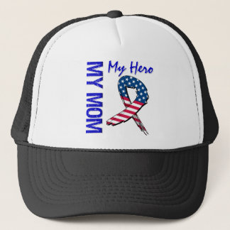 My Mom My Hero Patriotic Grunge Ribbon Trucker Hat