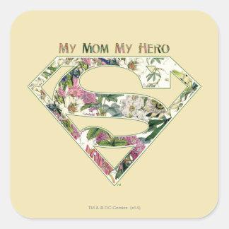 My Mom My Hero Square Sticker