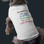 """My Mom Ran 26.2 miles dog shirt<br><div class=""""desc"""">Let you dog show of your marathon running accomplishment with this cute dog t shirt. 26.2 miles is long and you dog is proud of you too!</div>"""