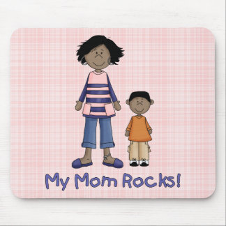 My Mom Rocks - African American Mouse Pad