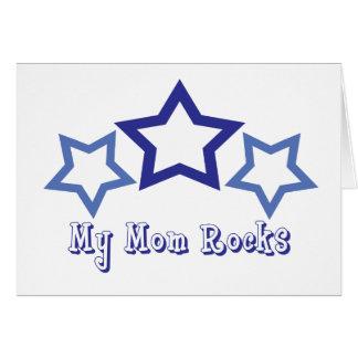 My Mom Rocks Greeting Card