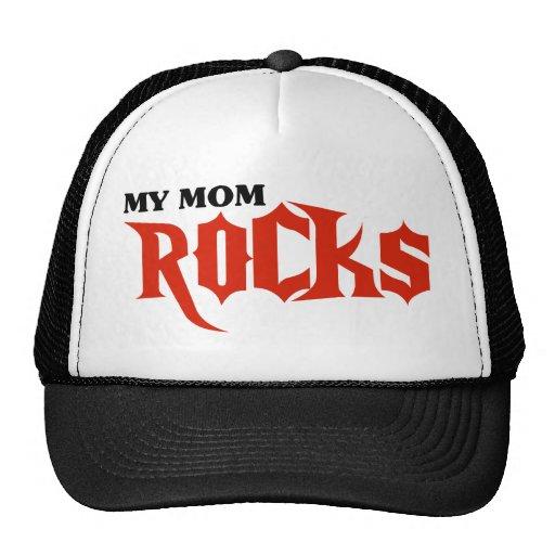 My Mom Rocks Mesh Hats