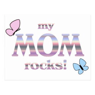 my MOM rocks! Postcard