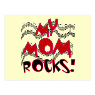 My Mom Rocks T-shirts and Gifts Postcard