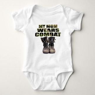 My Mom Wears Combat Boots Baby Bodysuit