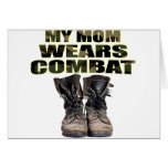 My Mom Wears Combat Boots Greeting Cards