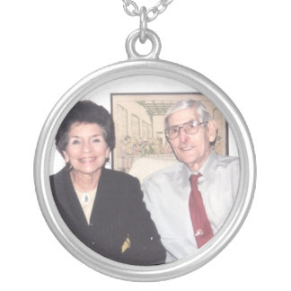 my momma and poppa silver plated necklace
