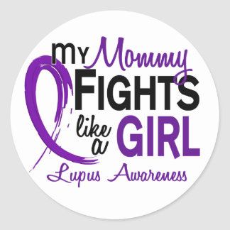 My Mommy Fights Like A Girl 10 Lupus Sticker