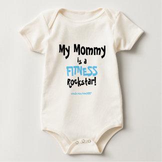My Mommy...fitness - blue Baby Bodysuit