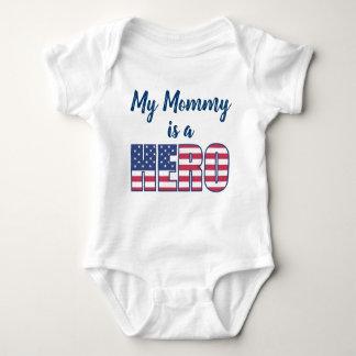 My Mommy Is A Hero American Flag Baby Bodysuit