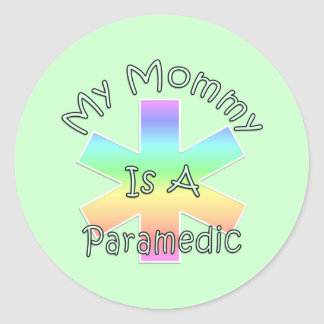 My Mommy Is A Paramedic Classic Round Sticker