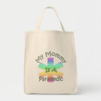 My Mommy Is A Paramedic Grocery Tote Bag