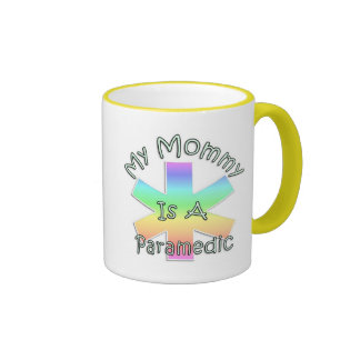 My Mommy Is A Paramedic Ringer Coffee Mug