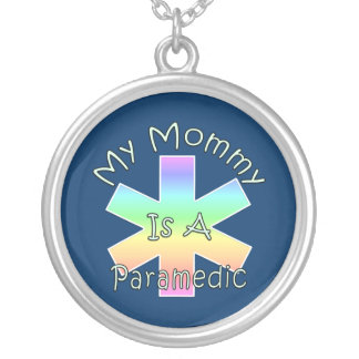 My Mommy Is A Paramedic Round Pendant Necklace