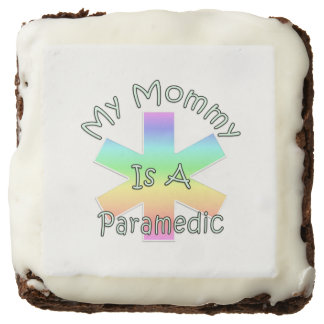 My Mommy Is A Paramedic Square Brownie