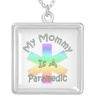 My Mommy Is A Paramedic Square Pendant Necklace