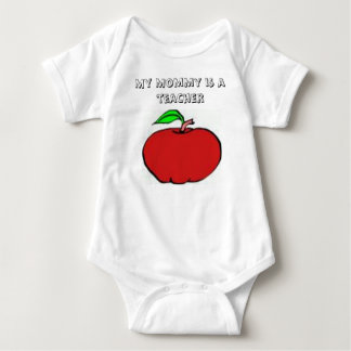 My Mommy Is A Teacher Baby Bodysuit