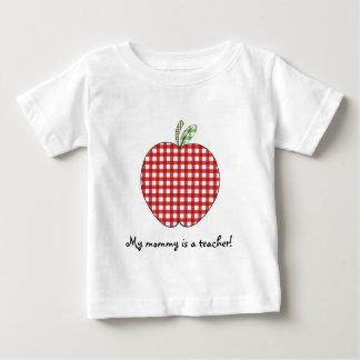 My Mommy is a Teacher Shirt- Red Gingham Apple T-shirt