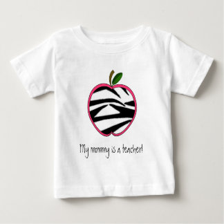 My Mommy is a Teacher - Zebra Print Apple T Shirt