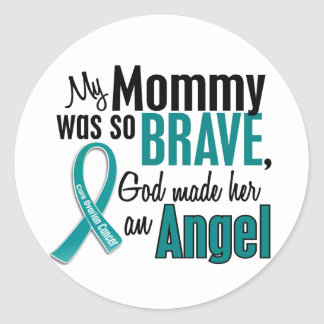 My Mommy Is An Angel 1 Ovarian Cancer Classic Round Sticker