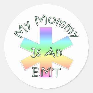My Mommy Is An EMT Round Sticker