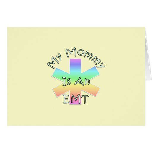 My Mommy Is An EMT Stationery Note Card