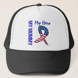 My Mommy My Hero Patriotic Grunge Ribbon Trucker Hat