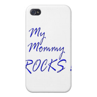 My Mommy Rocks blue Case For iPhone 4