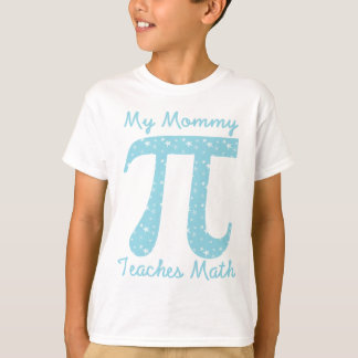 My Mommy Teaches Math Blue Stars T-Shirt