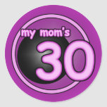 My Mom's 30 pink swirl Sticker