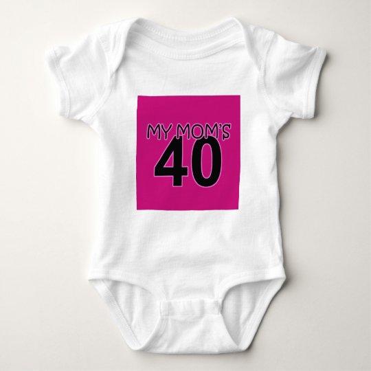 My Mom's 40 Baby Bodysuit