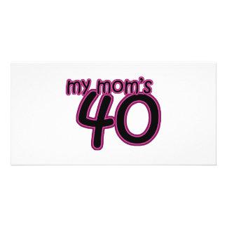 My Mom's 40 Card
