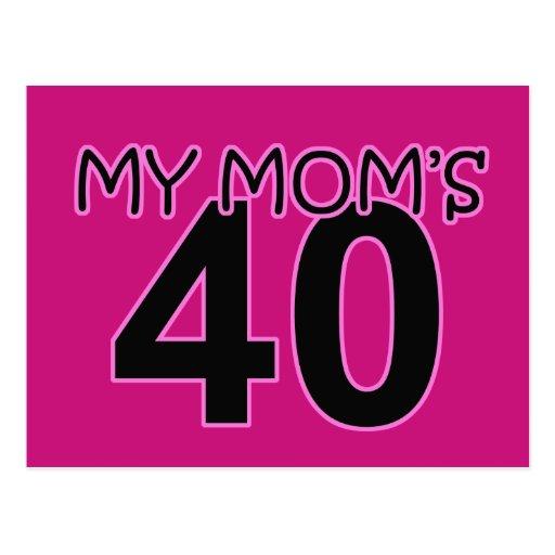 My Mom's 40 Postcard | Zazzle