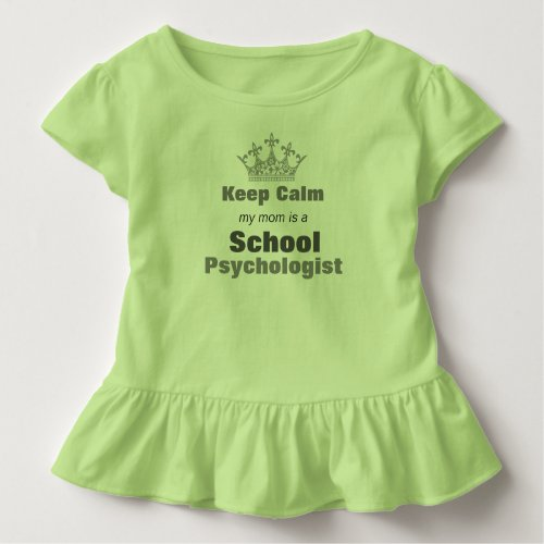 My Moms A School Psychologist Toddler Ruffle Tee