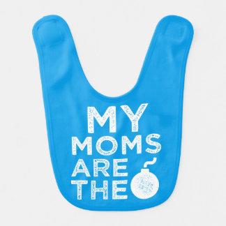 My Moms are the Bomb funny baby bib
