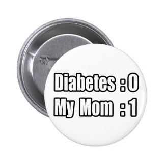 My Mom's Beating Diabetes 2 Inch Round Button
